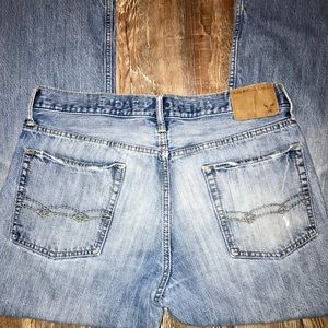 AMERICAN EAGLE MENS BOOTCUT JEANS 34/34 DISTRESSED